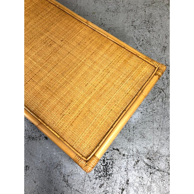 Mid Century Modern Ficks Reed Bamboo / Rattan Benches For Sale - Image 12 of 13