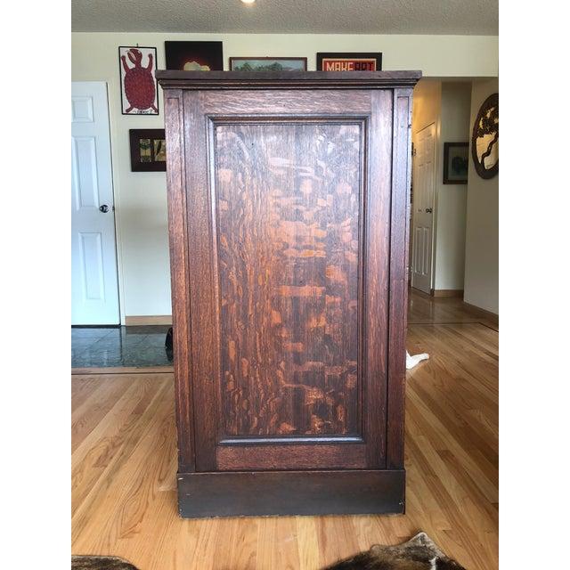 Arts & Crafts Antique Oak San Francisco City Tax Filing Cabinet For Sale - Image 3 of 11