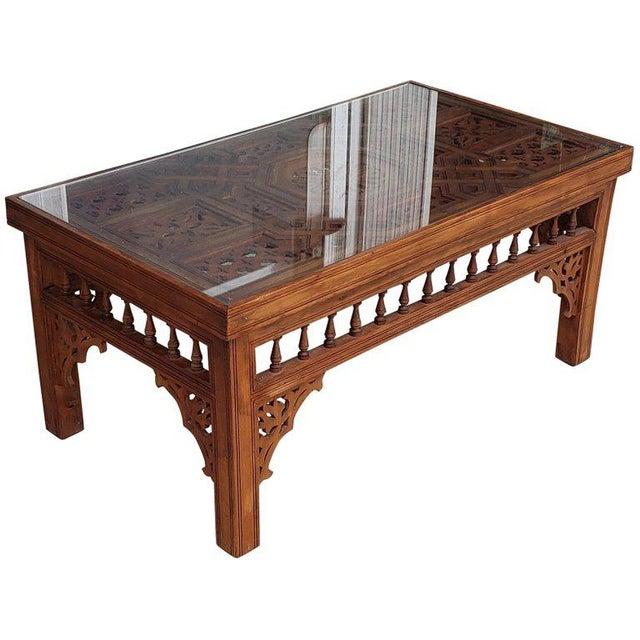Moroccan Rectangular Cedar Wood Coffee Table