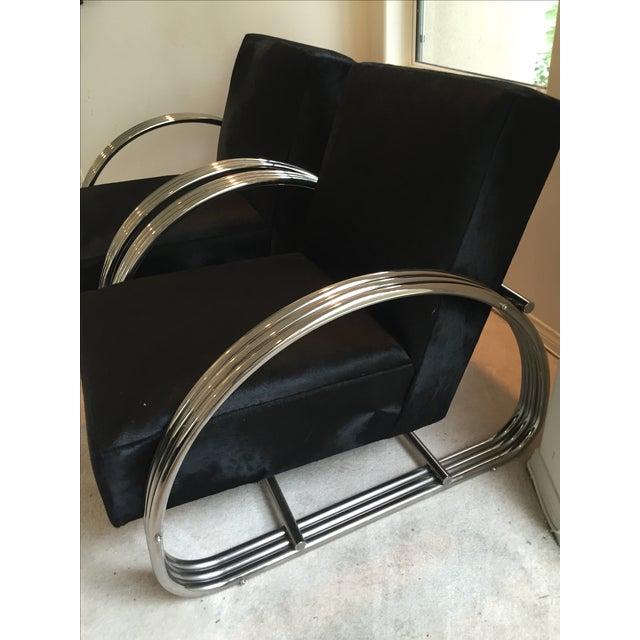 Ralph Lauren Hudson Street Lounge Chairs - A Pair - Image 4 of 9