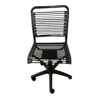 Black Contemporary Desk Chair For Sale