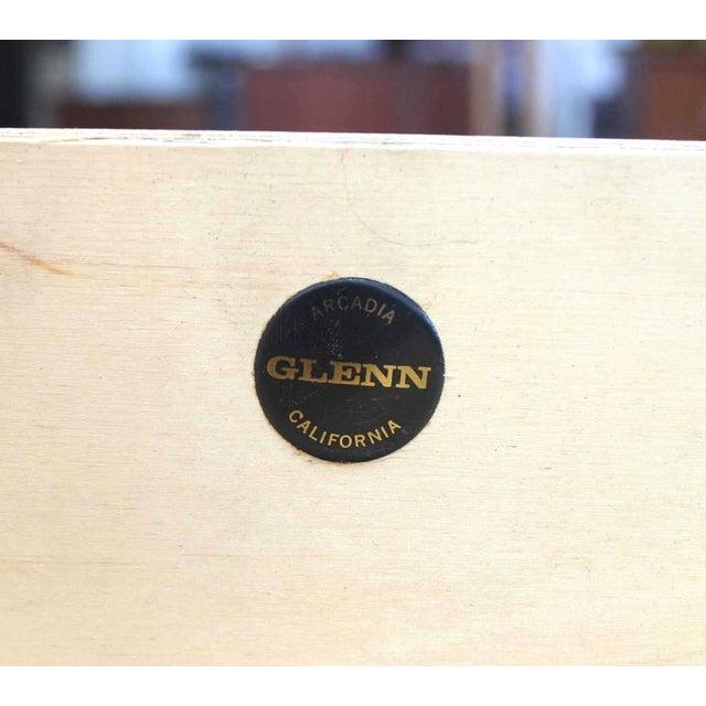 Mid-Century Modern Hidden File Drawer Glenn California Mid Century Modern Walnut Writing Table Desk For Sale - Image 3 of 9