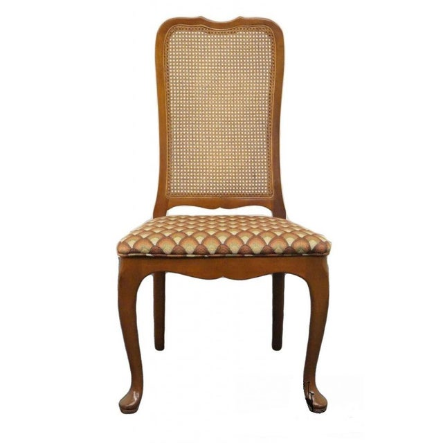 Late 20th Century Vintage Georgetown Galleries Solid Cherry Cane Back Side Chair For Sale - Image 10 of 10