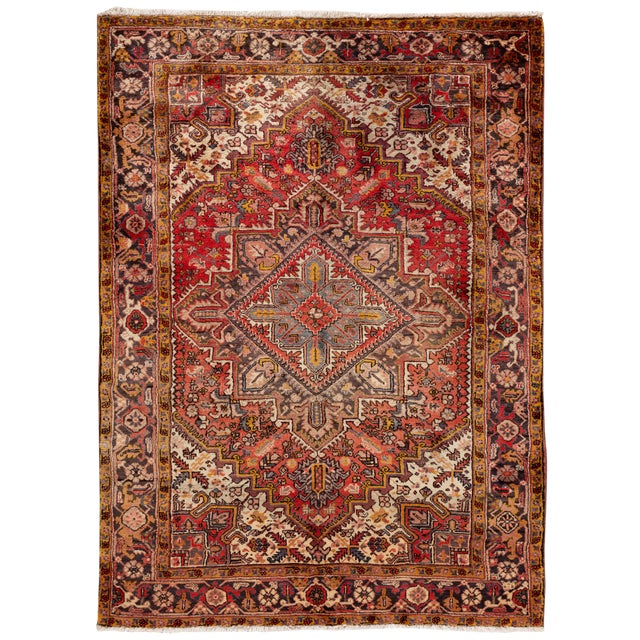 """Vintage Persian Rug, 6'5"""" X 8'9"""" For Sale"""
