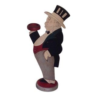 1930s Vintage Original Mr. Jiggs Wood Ashtray Butler For Sale