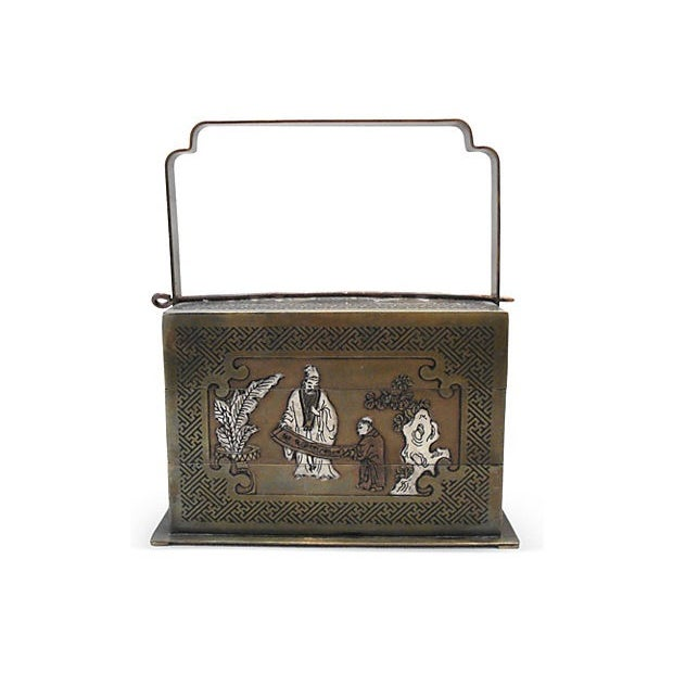 Asian Bronze Chinoiserie 3-Tier Box For Sale - Image 3 of 6