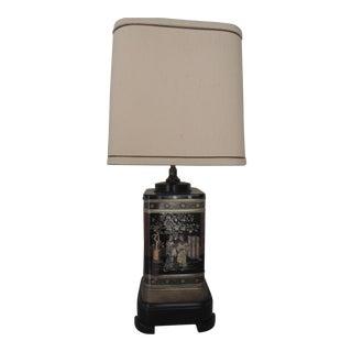 Asian Tea Tin Lamp For Sale