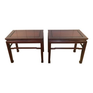 Handsome Mahogany End Tables - A Pair