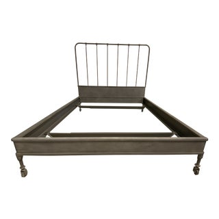 Queen Size Restoration Hardware Dutch Bed Frame For Sale