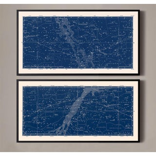 Nautical Constellation Map Prints - A Pair Preview