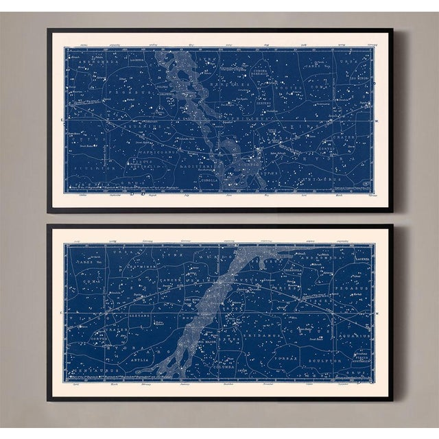 This is a set of 2 constellation maps that look great hung together! Beautiful details and linework! These very wide...