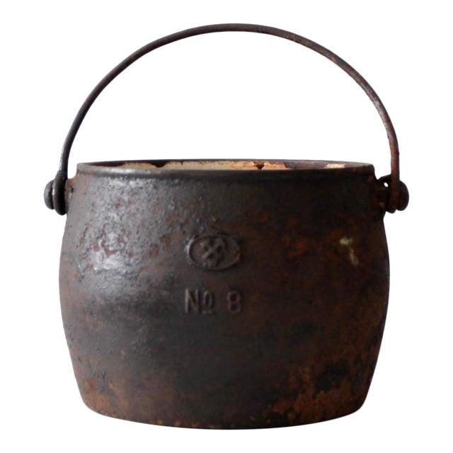 Antique Cast Iron Pot For Sale