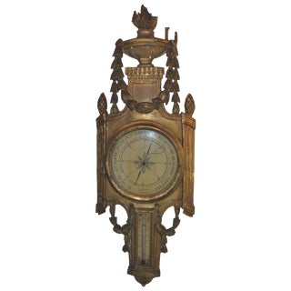 Louis XV Giltwood Barometer For Sale
