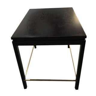 1960s Vintage Dunbar Ebonized End Table For Sale