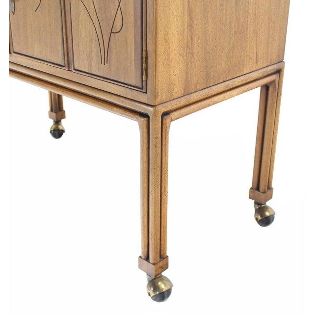 Flip Top Bar Cart Server Cabinet For Sale - Image 4 of 10