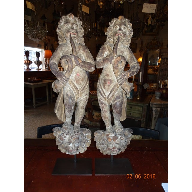 Pair of 18th Century French Architectural Cherubs For Sale - Image 10 of 10