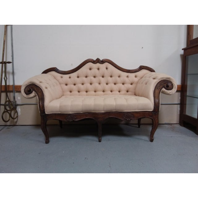 Wood 18th Century Walnut Piedmontese Sofa For Sale - Image 7 of 11