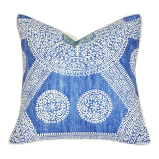 Thibaut Stonington Cotton Pillow With Down Insert For Sale