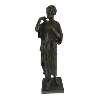 19th Century Grand Tour Bronze Figure of Diana