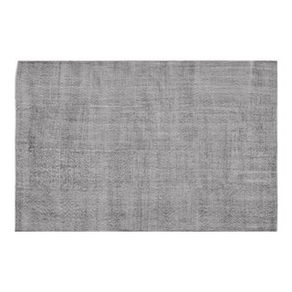 Vintage Gray Stonewashed Rug - 6′8″ × 10′ For Sale