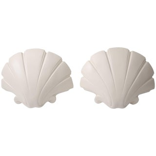 Scallop Clam Shell-Form Wall Sconces by Sirmos - a Pair For Sale