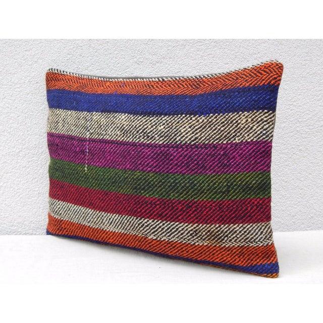 Contemporary Turkish Kilim Lumbar Pillow For Sale - Image 3 of 6