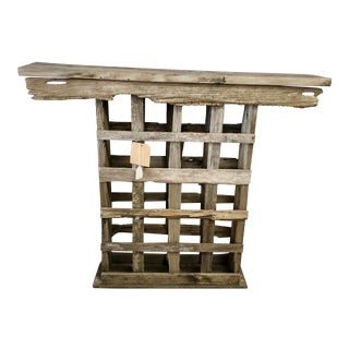 Nautical Reclaimed Wood Console Table/Wine Storage Bar For Sale