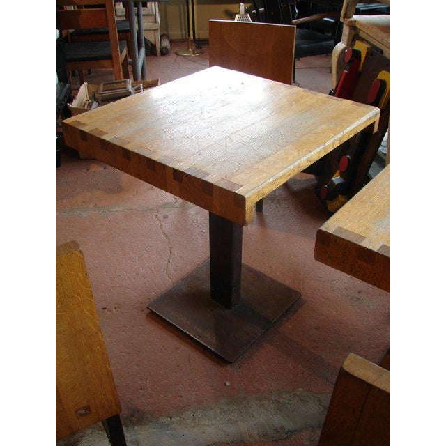 Metal Wood and Steel Dining Chairs and Tables For Sale - Image 7 of 9