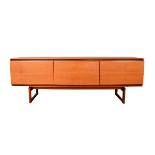 "1960s Mid-Century Modern White & Newton Teak ""Petersfield"" Credenza For Sale"