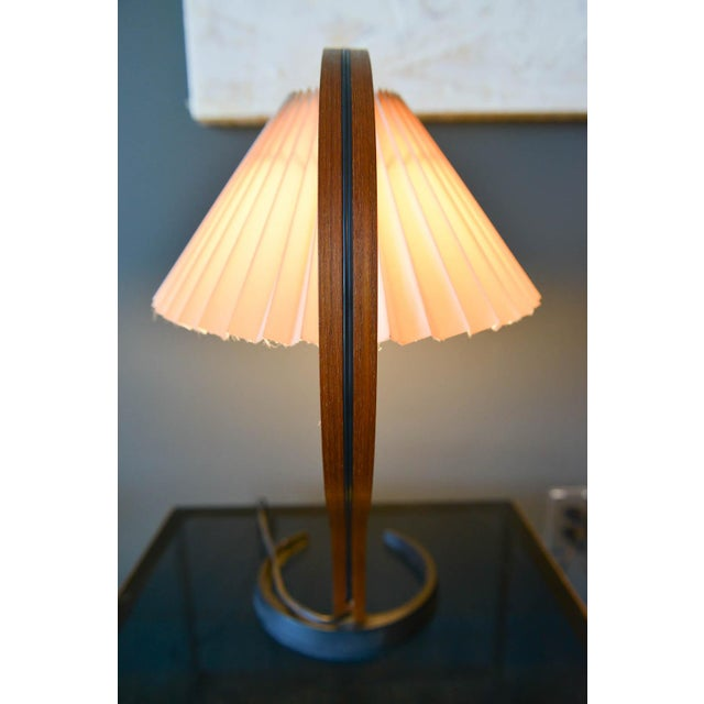 Bentwood Table Lamp by Caprani Light of Denmark, Circa 1971 For Sale - Image 9 of 12