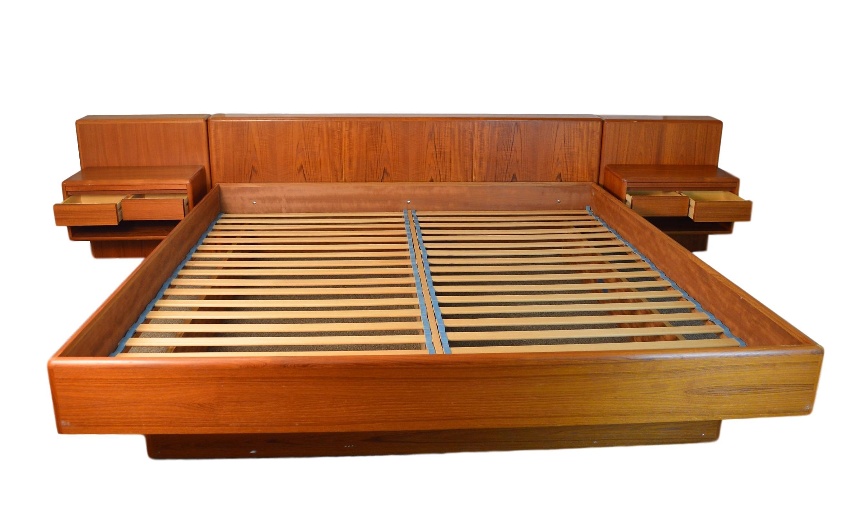 Danish Teak King Size Platform Bed Chairish