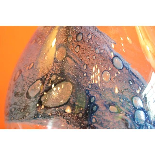 Pukeberg Eva Englund Art Glass Vase For Sale - Image 9 of 12