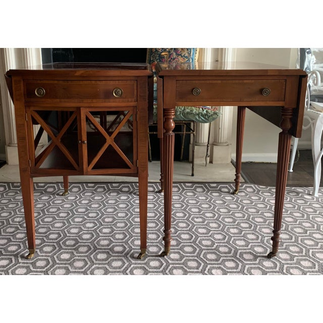 Pair of Federal Style Drop Leaf Side Tables For Sale - Image 12 of 12