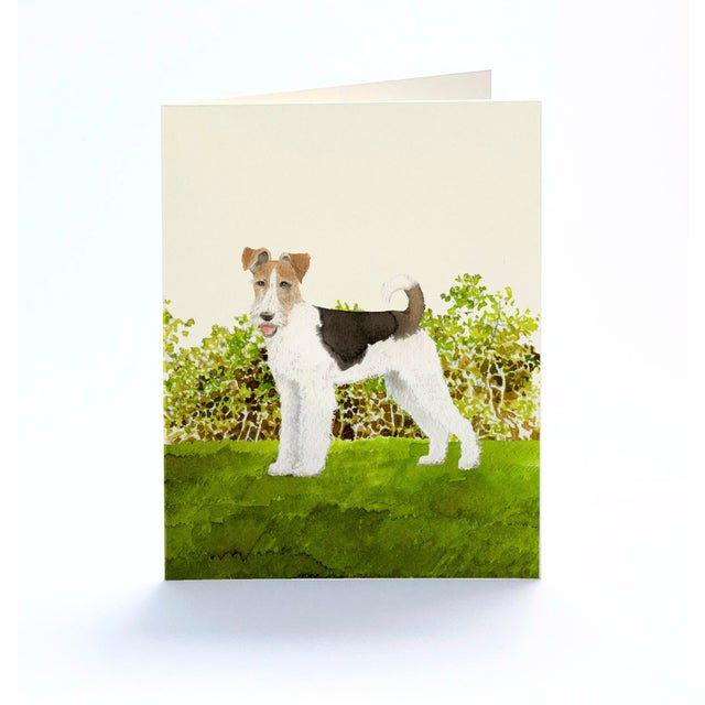 2020s Fox Terrier Boxed Stationery - Folded Cards - Set of 10 For Sale - Image 5 of 6