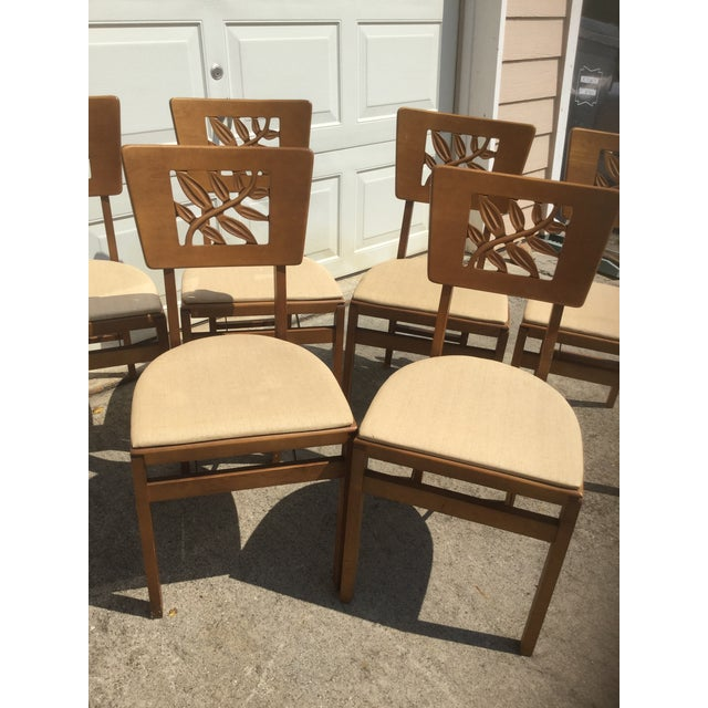 Vintage Carved Art Deco Chairs - Set of 6 For Sale - Image 9 of 11