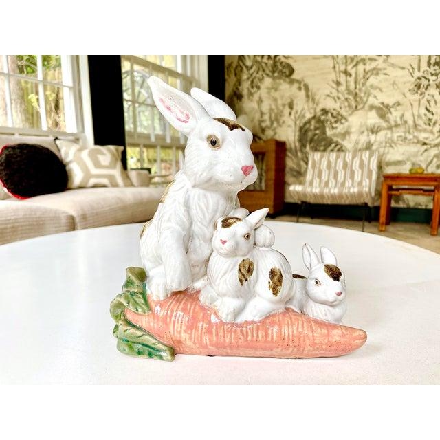 Vintage Provencal Ceramic Bunny Statue For Sale - Image 13 of 13
