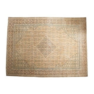 "Vintage Distressed Mahal Carpet - 9'8"" X 13'"