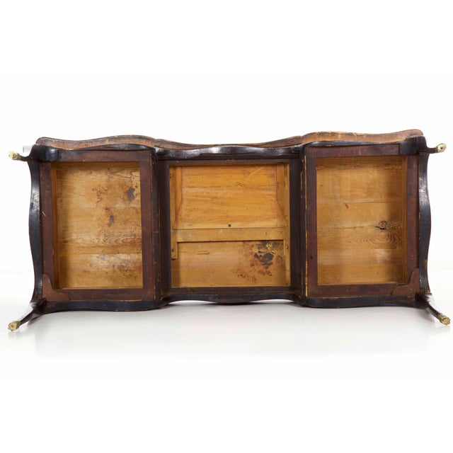 19th Century Louis XV Style Chinoiserie Decorated Bureau Plat Antique Writing Desk For Sale - Image 12 of 13