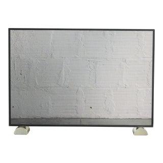 Custom Metal Fireplace Screen by BaseModern For Sale