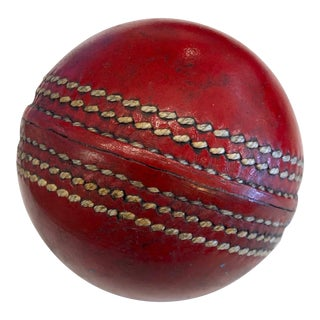 Vintage Leather Cricket Ball For Sale