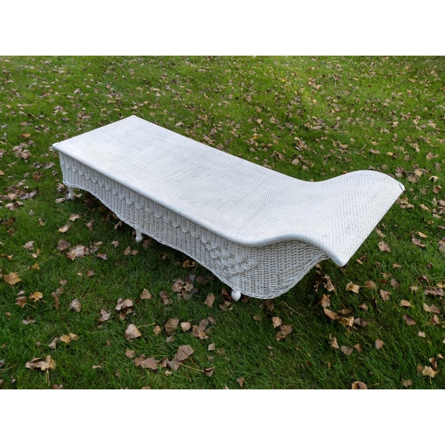 Vintage Wicker Fainting Couch Chairish