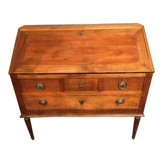 Louis XV Period Abattant Desk in Walnut