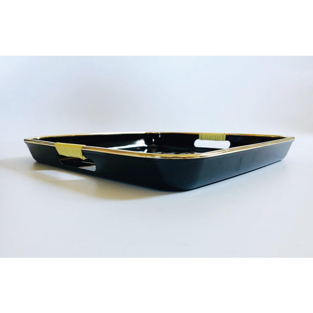 Mid Century Square Black Iris Tray For Sale In San Francisco - Image 6 of 8