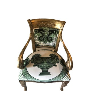 Modern Custom Made Gianni Versace Fabric Accent Chair For Sale