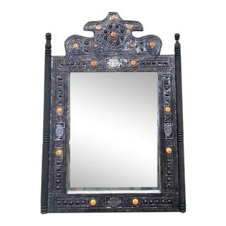 Moroccan Mirror W/ Bone For Sale