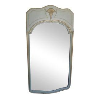 White & Gold Framed Large Mirror