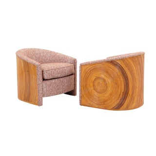 1970s Bamboo Lounge or Club Chairs - a Pair
