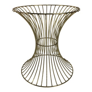 1970s Mid Century Modern Brass Side Table Stool Platner Style For Sale