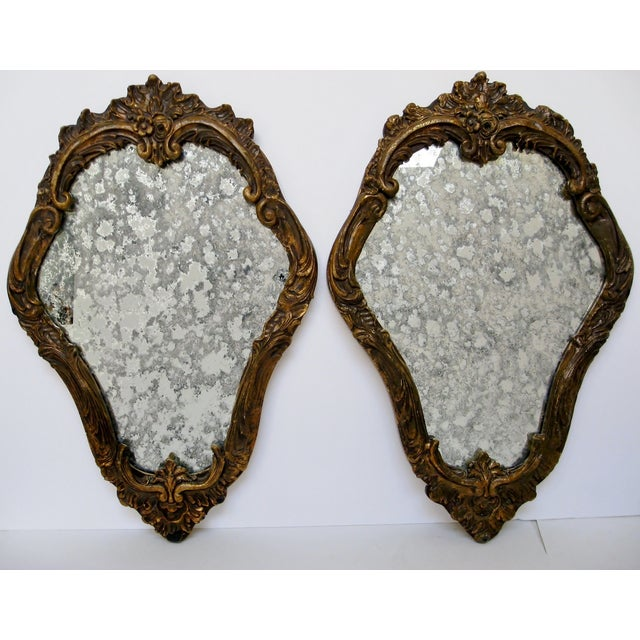 Baroque-Style Wood Mirrors - A Pair - Image 2 of 11