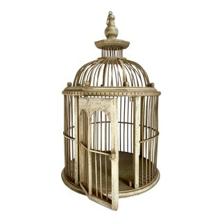 Antique Bentwood & Bamboo Bird Cage For Sale